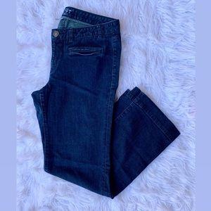 LOFT Jeans - Ann Taylor LOFT denim trouser dark blue wash jeans
